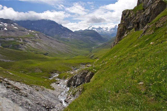 Ruisseau des Roches Blanches - passage exposé