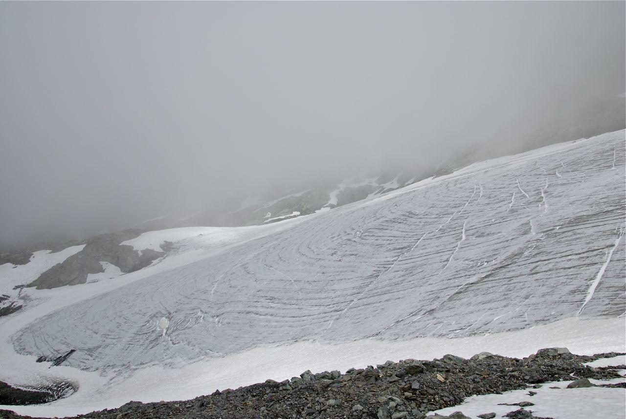 Bas du glacier des Roches Blanches