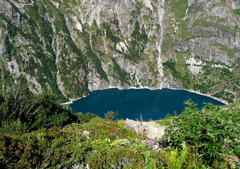 Lac du Lauvitel, vu de la montée au Col du Vallon