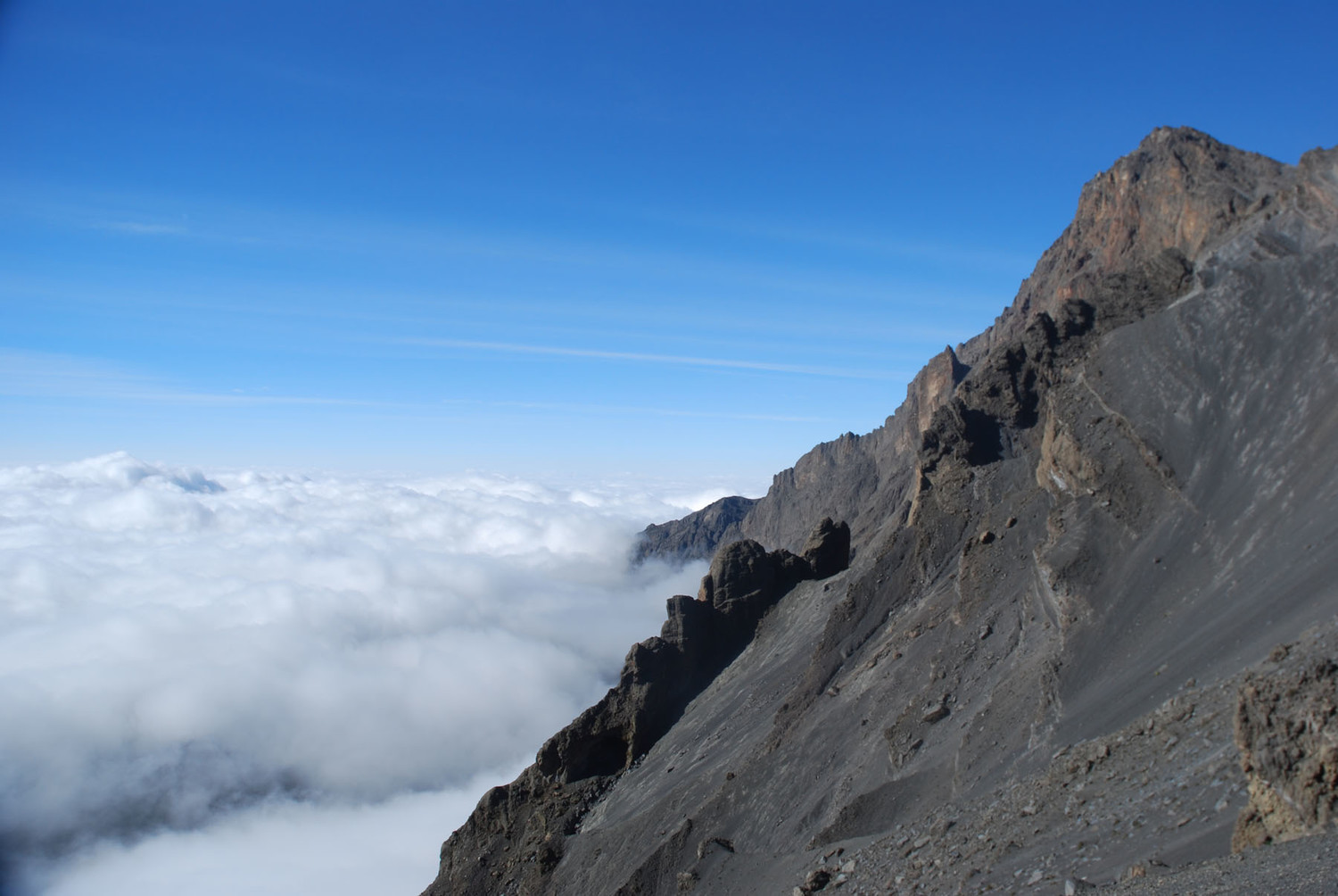 Mount Meru from the ascent route
