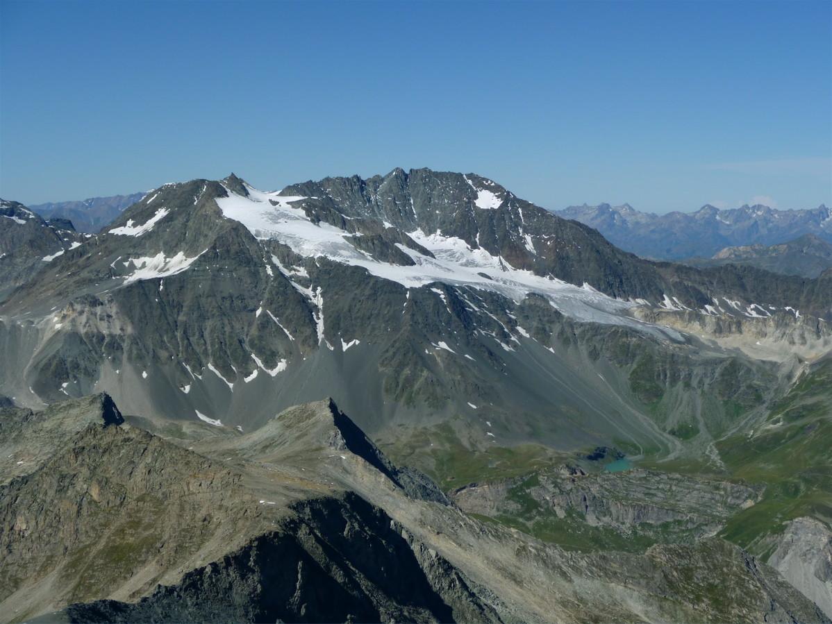 Glacier de Gebroulaz depuis l'arête N de la Pointe de Labby