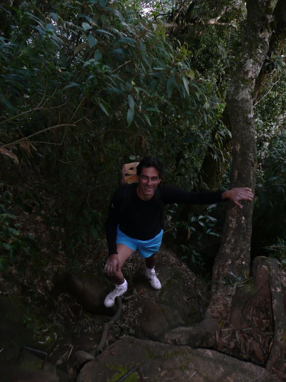 Chemin de retour du Bico do Papagaio (PN de Tijuca, Rio)