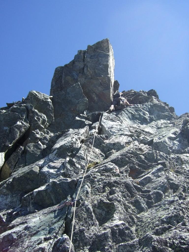 Bruno dans la montée de l'Aiguille Dulong de Rosnay