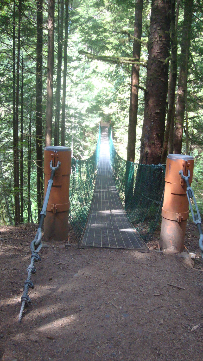 Juan de Fuca N. Park - Suspension bridge