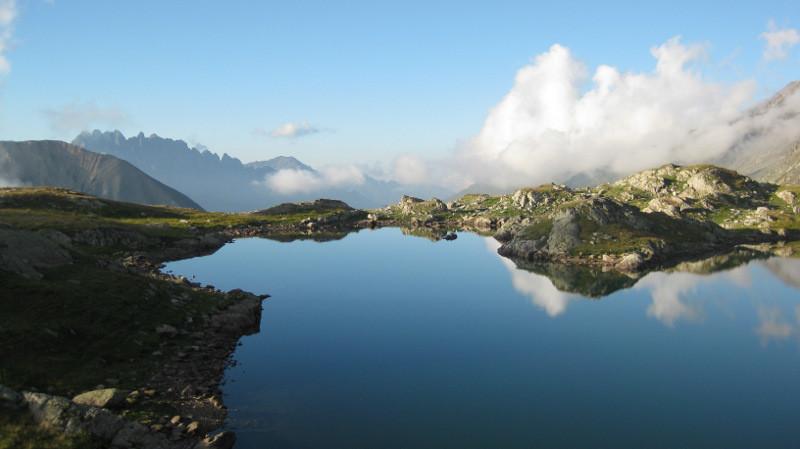 lac de la Jasse et Aiguilles de l'Argentière