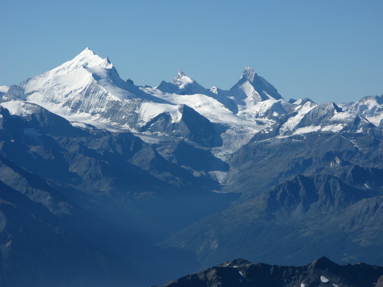 Weisshorn, Zinalrothorn et Matterhorn depuis le Doldenhorn