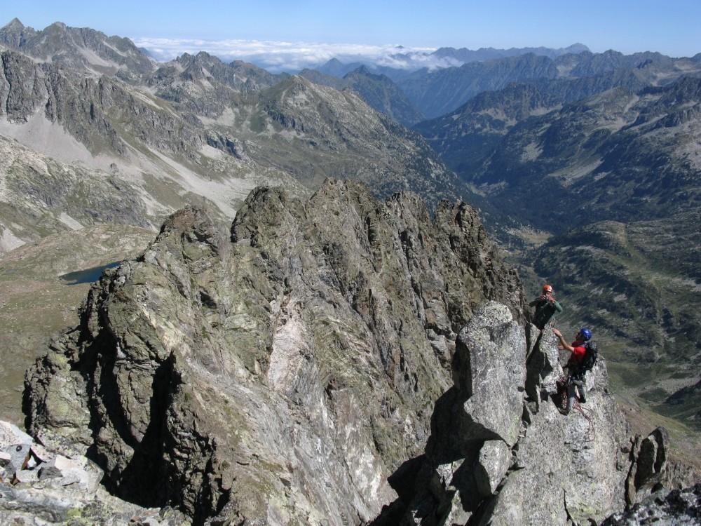 arête vue depuis le sommet