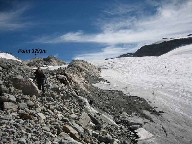 Au bord du glacier
