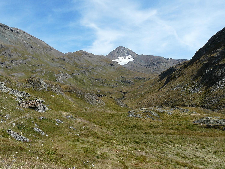 Le vallon de Grauson, pointe Tersiva et le glacier de Tessonet
