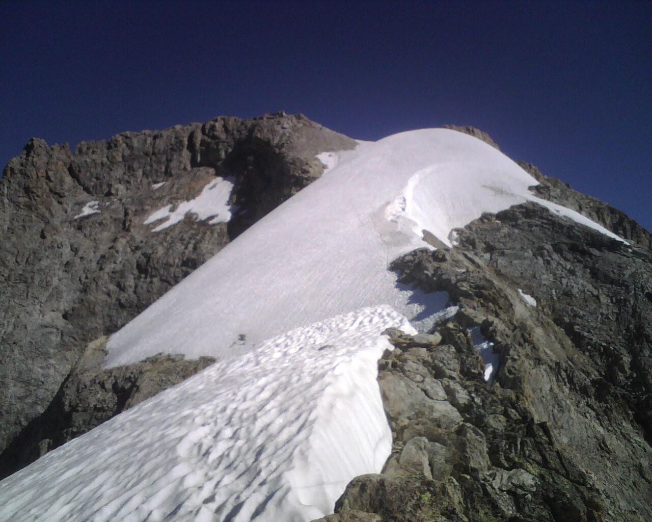Glacier final et sommet