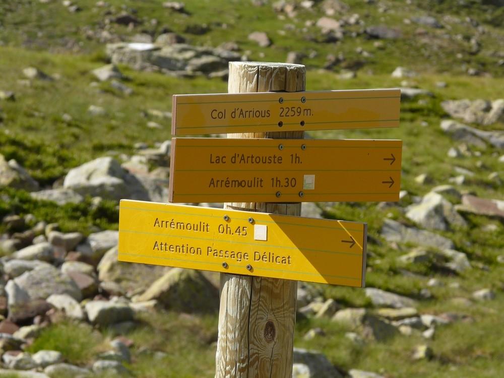 Col d'Arrious - Pancarte