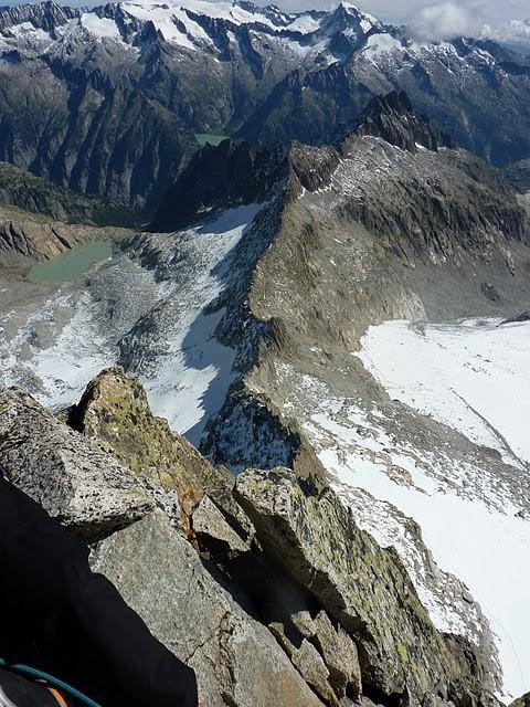 vue de l'arete du sommet