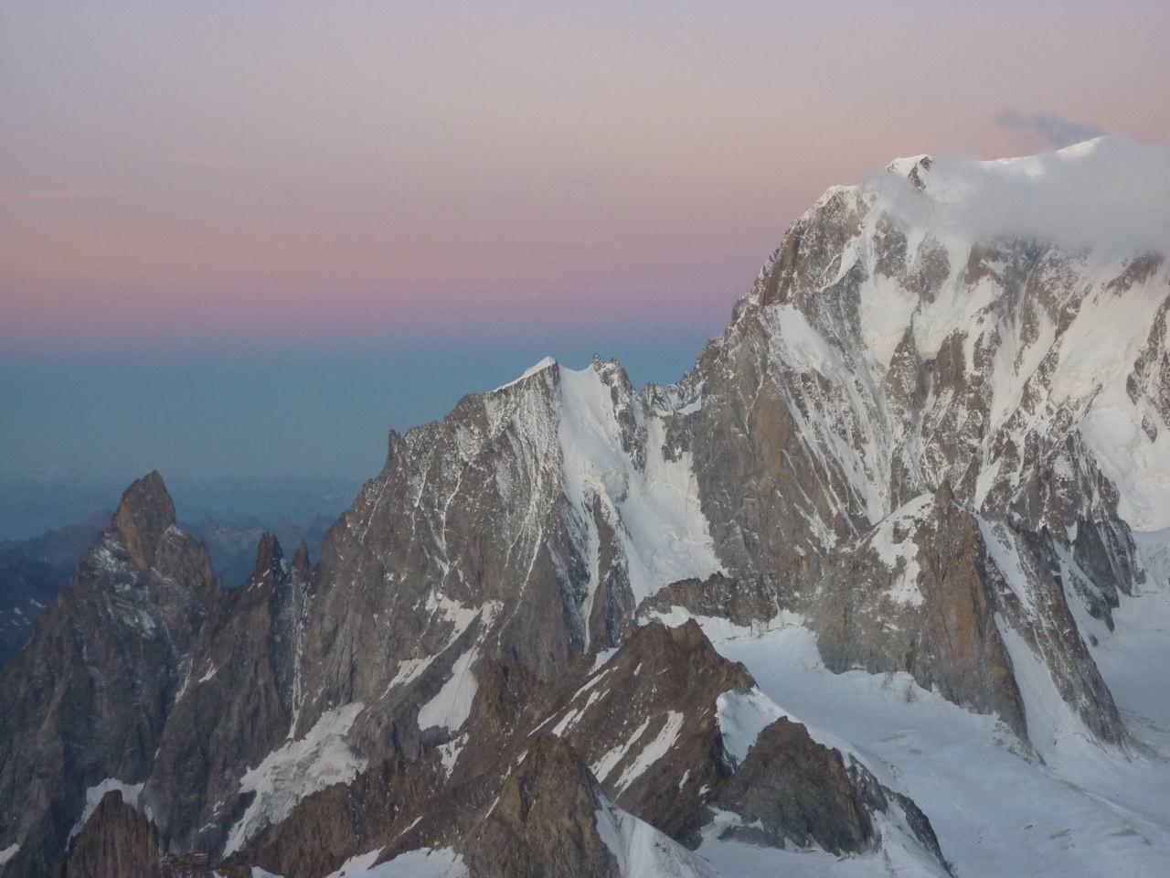 petit matin sur le Mt Blanc