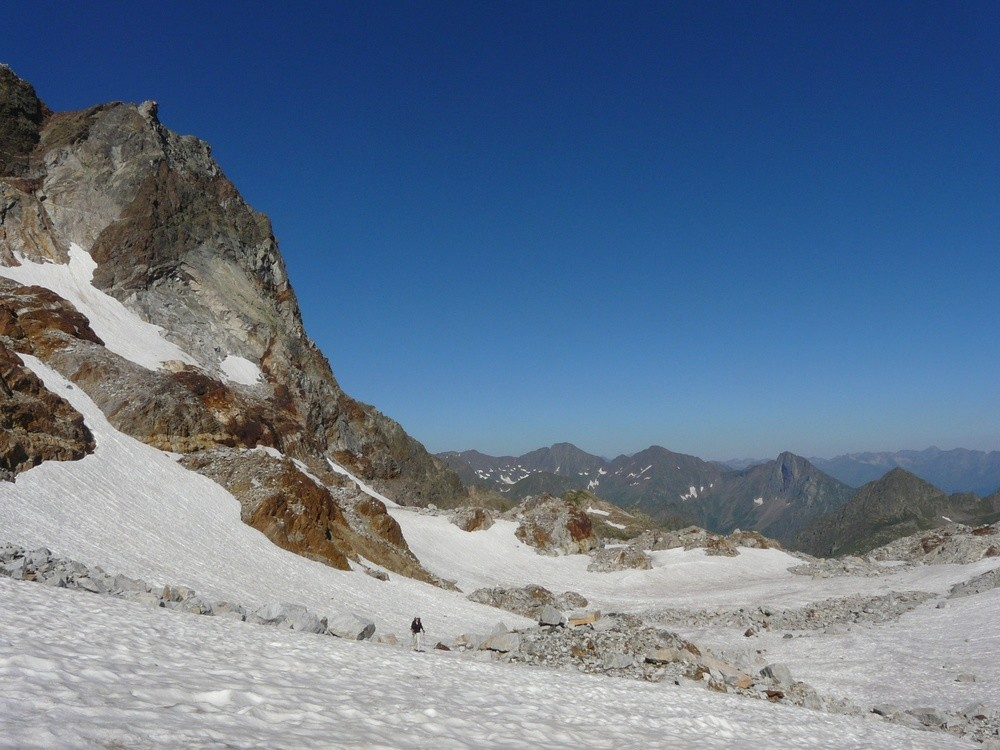 Sur le glacier des Gourgs Blancs