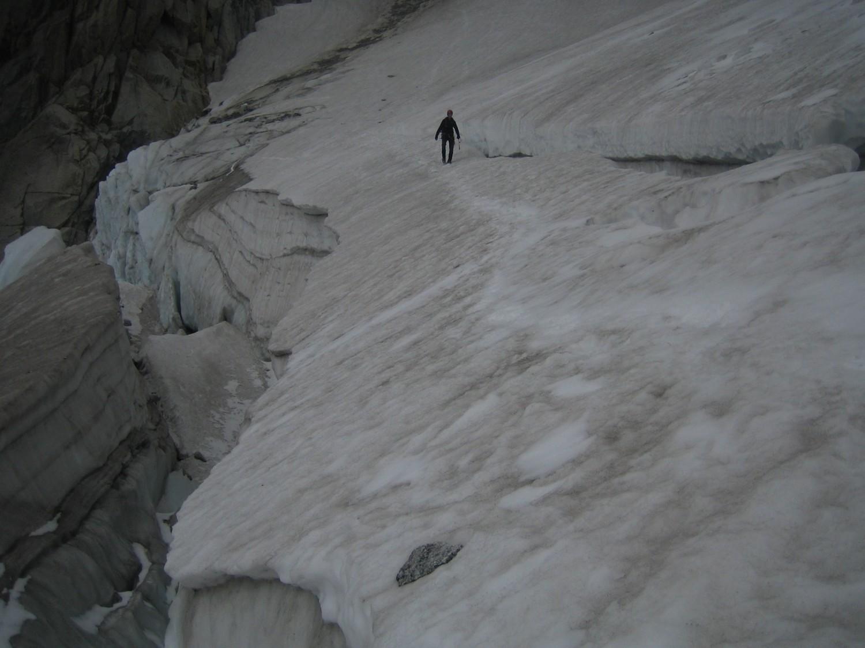 partie supérieure du glacier des Nantillons