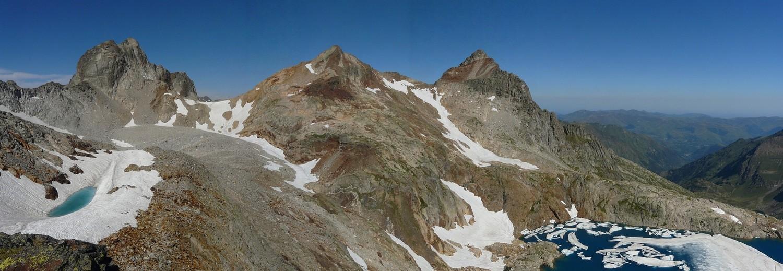 Pic Jean-Arlaud, Col des Gourgs Blancs, Pic Gourdon, Pic des Spijeoles