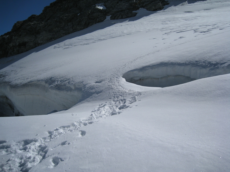 Dans le glacier de l'Aiguille