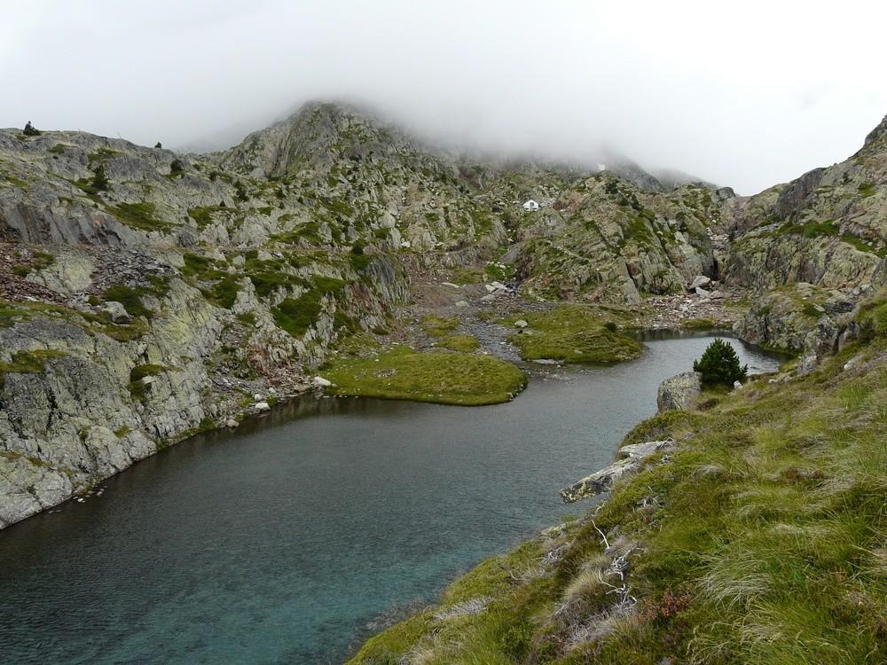 L'emplacement du refuge de Certascan (vu de l'Est)