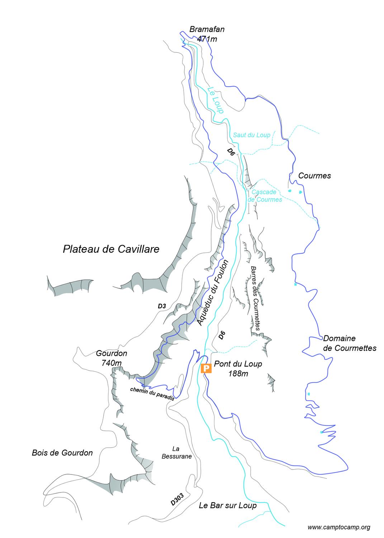 Itinéraire Balcons du Loup