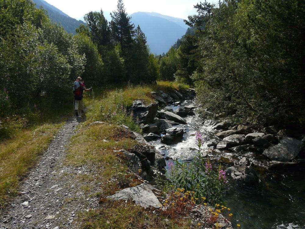 Le long du ruisseau de Tristaina