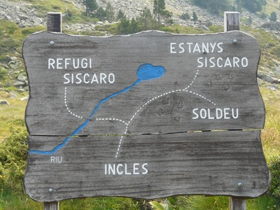 Plan de situation du refuge Siscaro