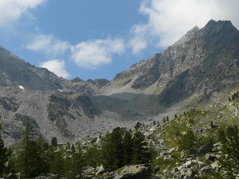 Col du Haut Pas depuis le vallon Dessus (Val d'Aoste)