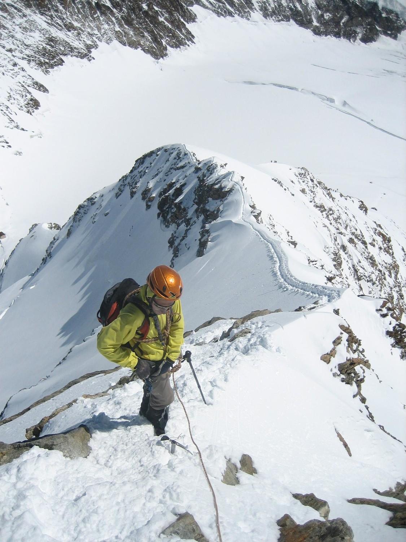 Mönch : bas de la descente