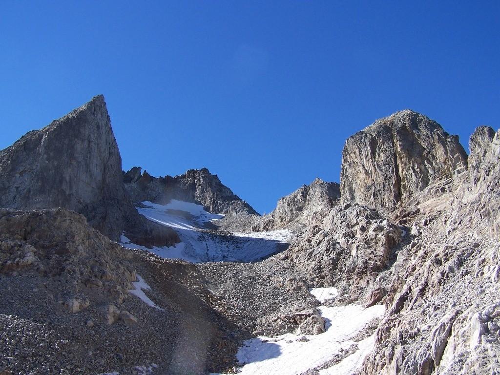 Gd pic de la lauzière face N, et le glacier de celliers ou ce qu'il en reste.
