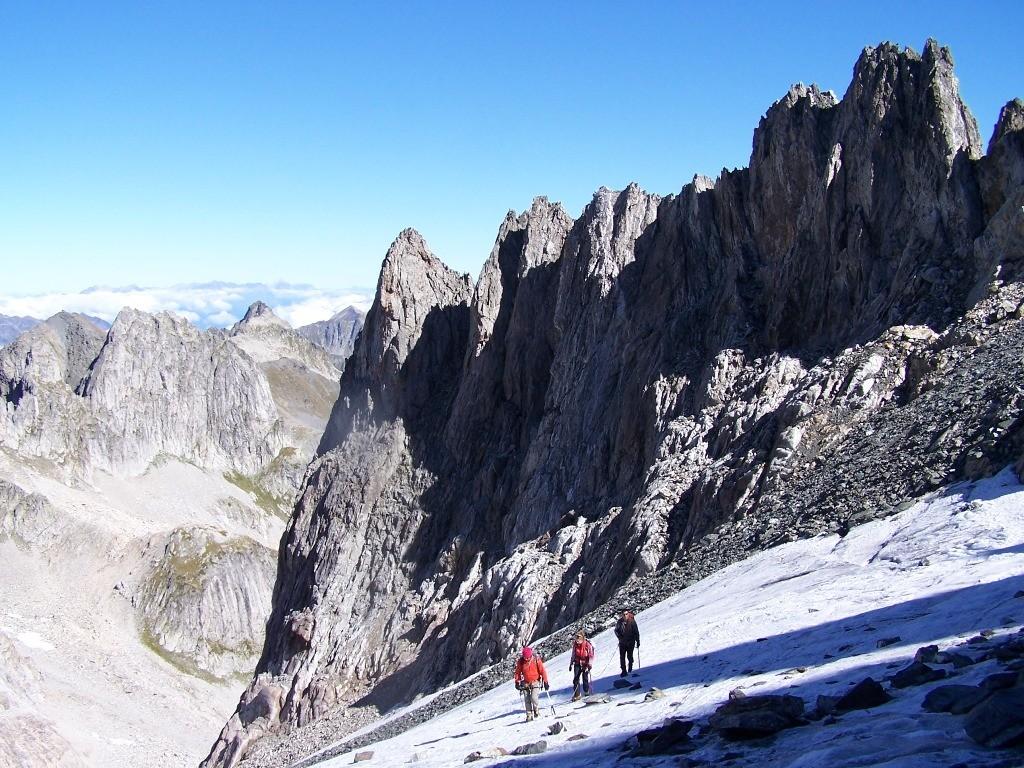 Au sommet du glacier de Celliers, gd pic de la lauzière