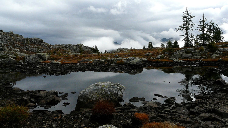 Ciel chargé au col de la Croix (Val d'Aoste)