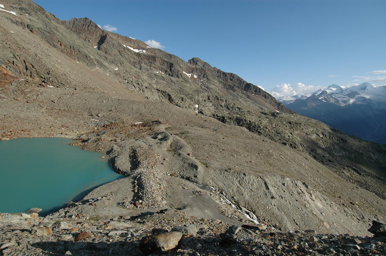 Lac Grüebe, Jegigrat and Jegihorn 3206m, NW. 08/2009