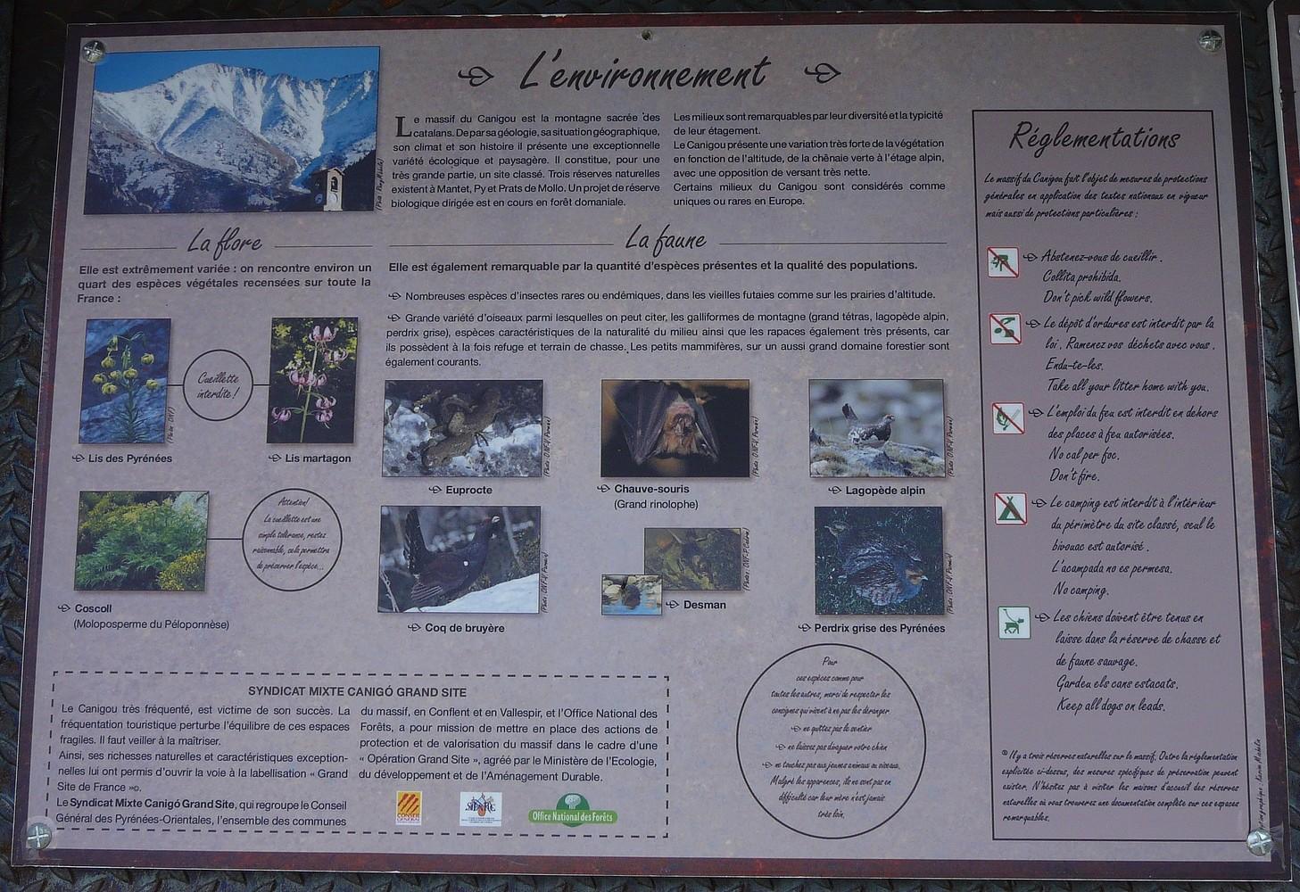 L'envirronement du massif du Canigou