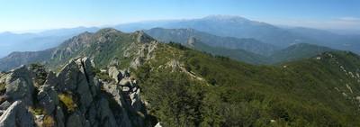 Vista del Canigó des del roc de Frausa