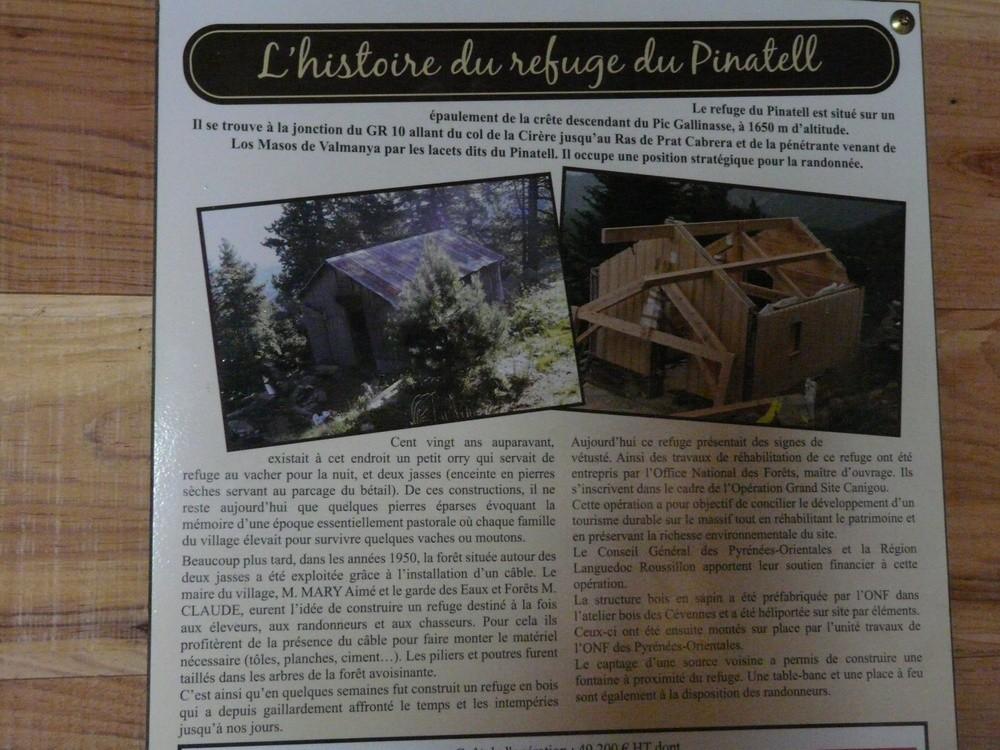 L'histoire du refuge du Pinatell