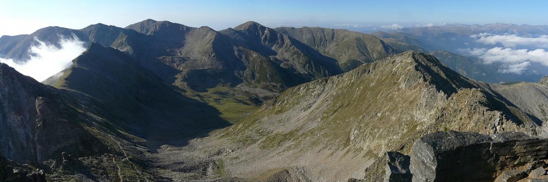 Pica del Canigó - Vista cap a la vall de Cadí