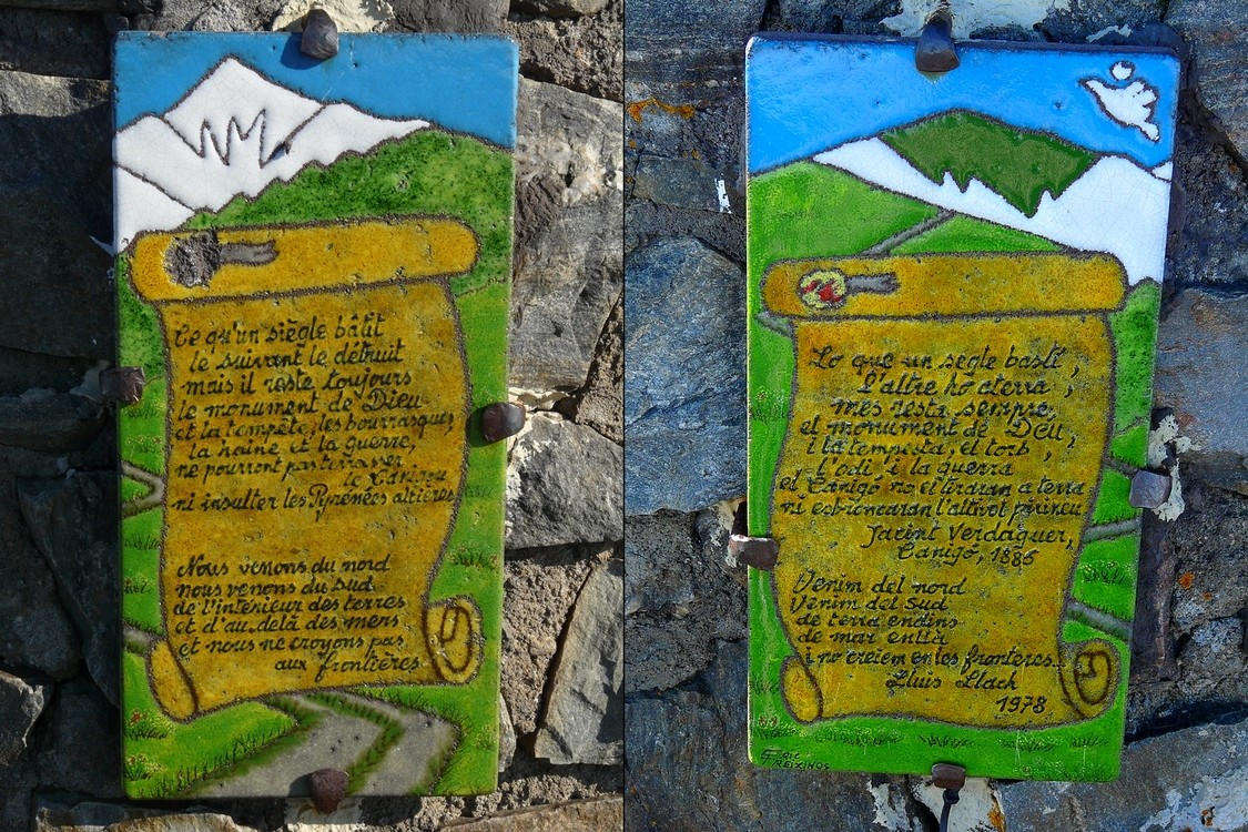 Pic du Canigou - Inscriptions