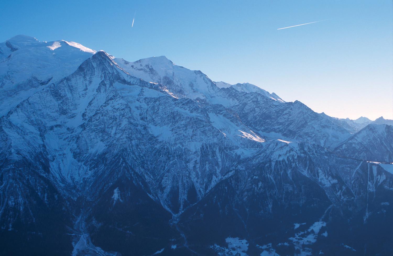Mont Blanc, Dôme et Aiguille du Goûter, Aiguille de Bionnassay. 12/2004