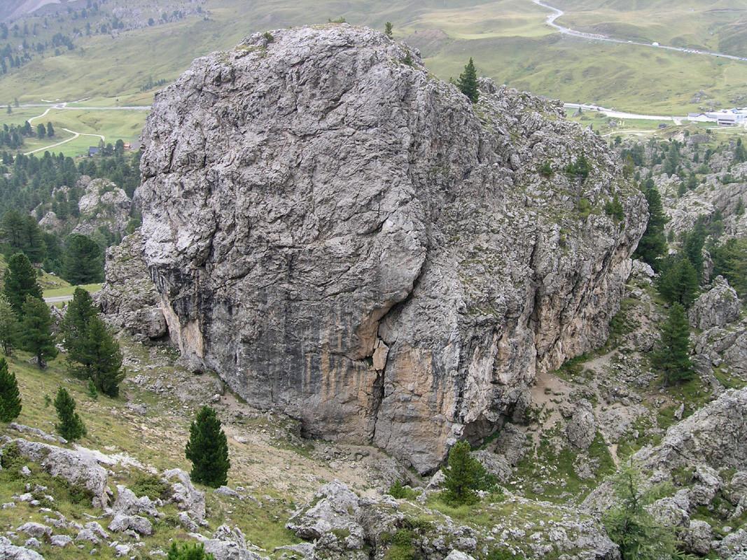 Face N du rocher principal