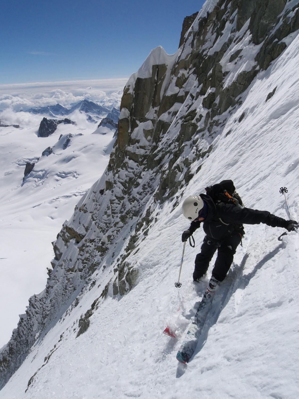 Couloir Jager, mont Blanc du Tacul.