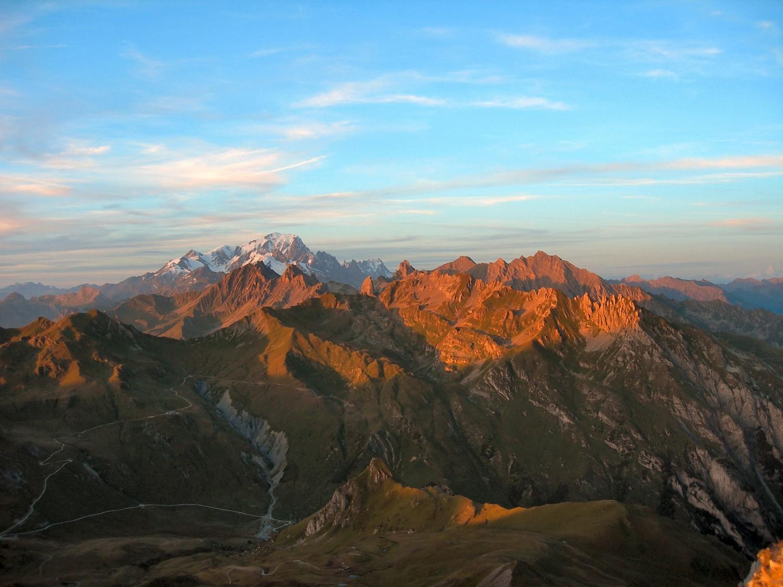 Soleil automnal sur le Massif du Mt Blanc
