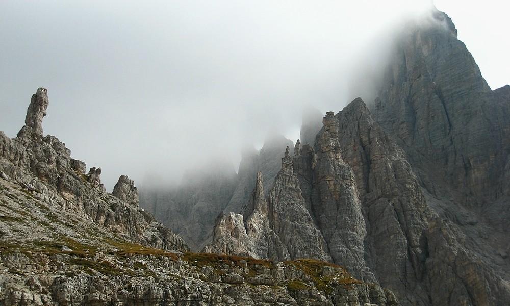 Saucisse de Francfort, arête N, sommet du Monte Paterno