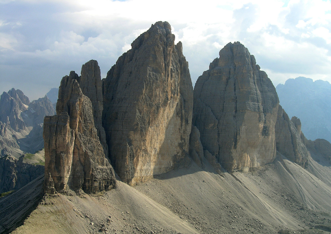 Tre Cime vues du Monte Paterno