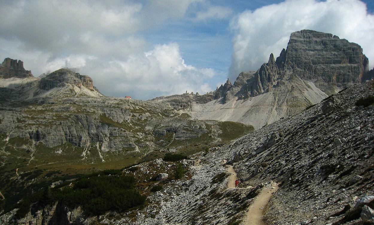 Torre Toblin, Sasso  di Sesto, Refuge Locatelli, arête Ndu Monte Paterno