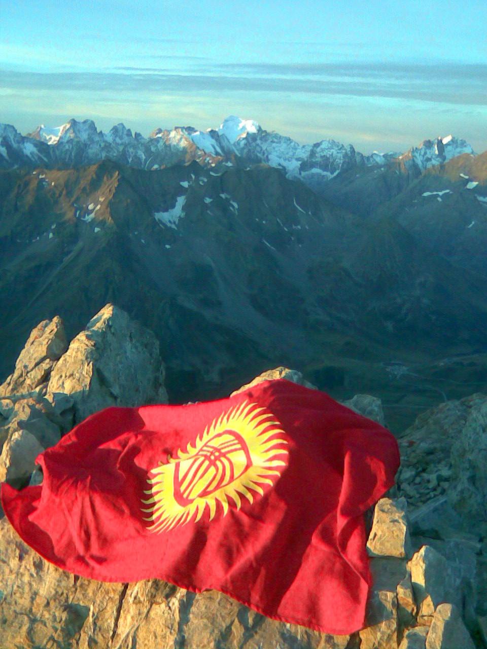 Le Kyrgystan salut la barre des Ecrins