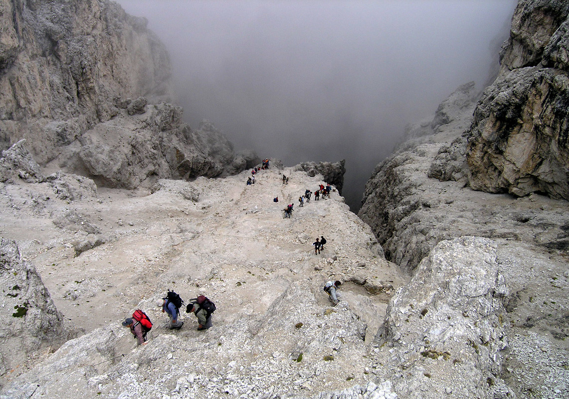 Redescente par le Val Setus