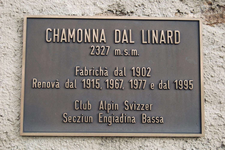 Targa della Chamonna dal Linard 2327 m.