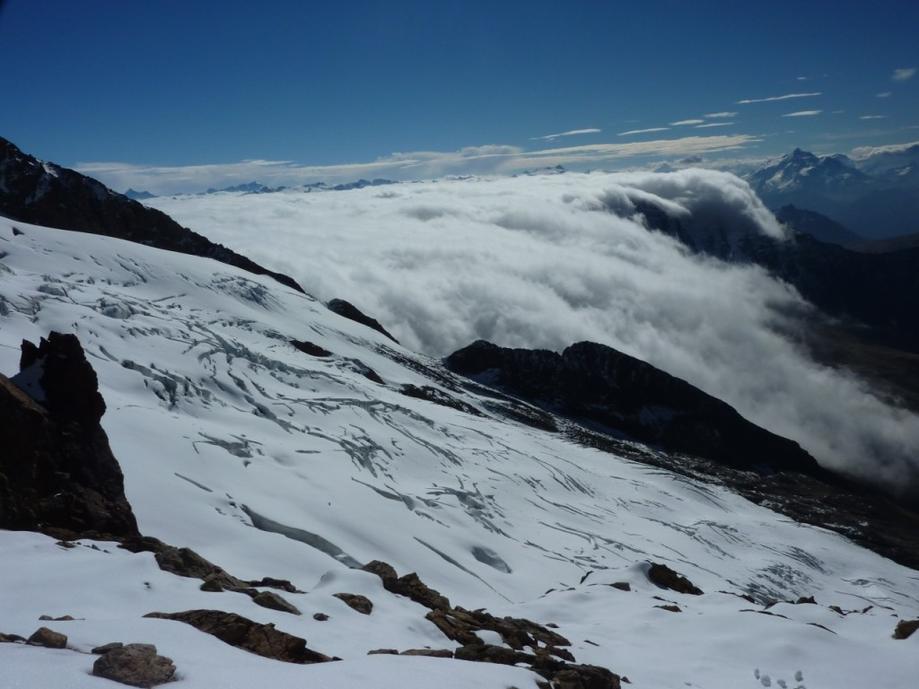 glacier des glaciers et col de la seigne