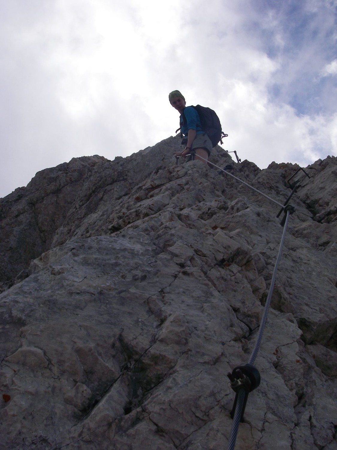 Triglav - Summit - Fixed protection