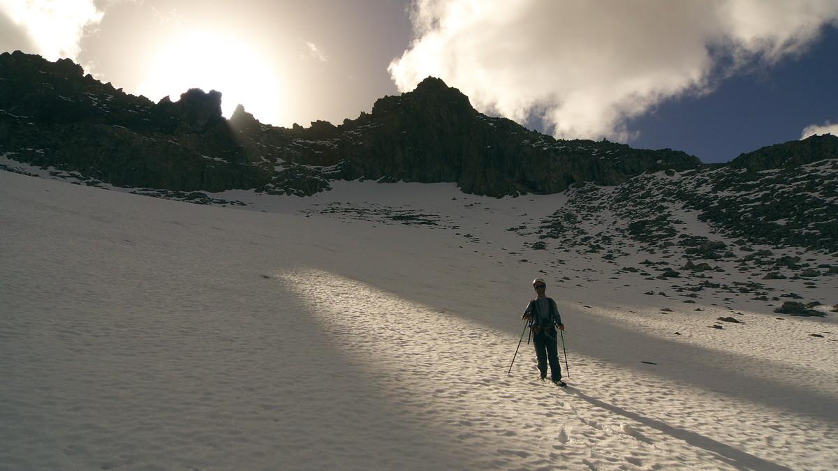Descente sur le glacier de Celliers