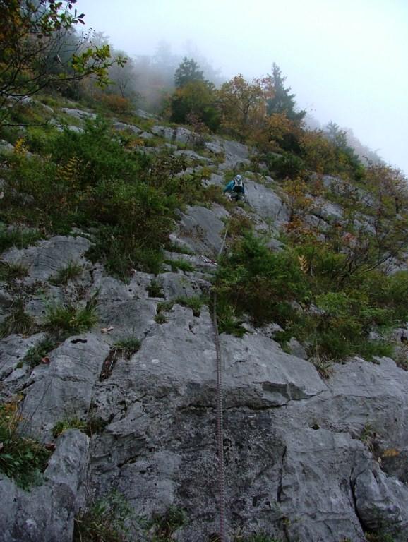 Dalle du Latay : jonction vers la dalle du Tuet L3, le tracé est visible mais à élargir un peu ...
